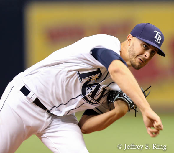 Odorizzi gave up two homers and four runs in seven innings./JEFFREY S. KING