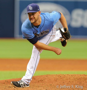Andries went seven innings, but the Rays didn't score enough./JEFFREY S. KING