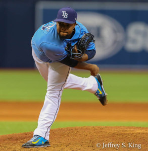 Colombia went two innings and blew his first save of the season./JEFFREY S. KING