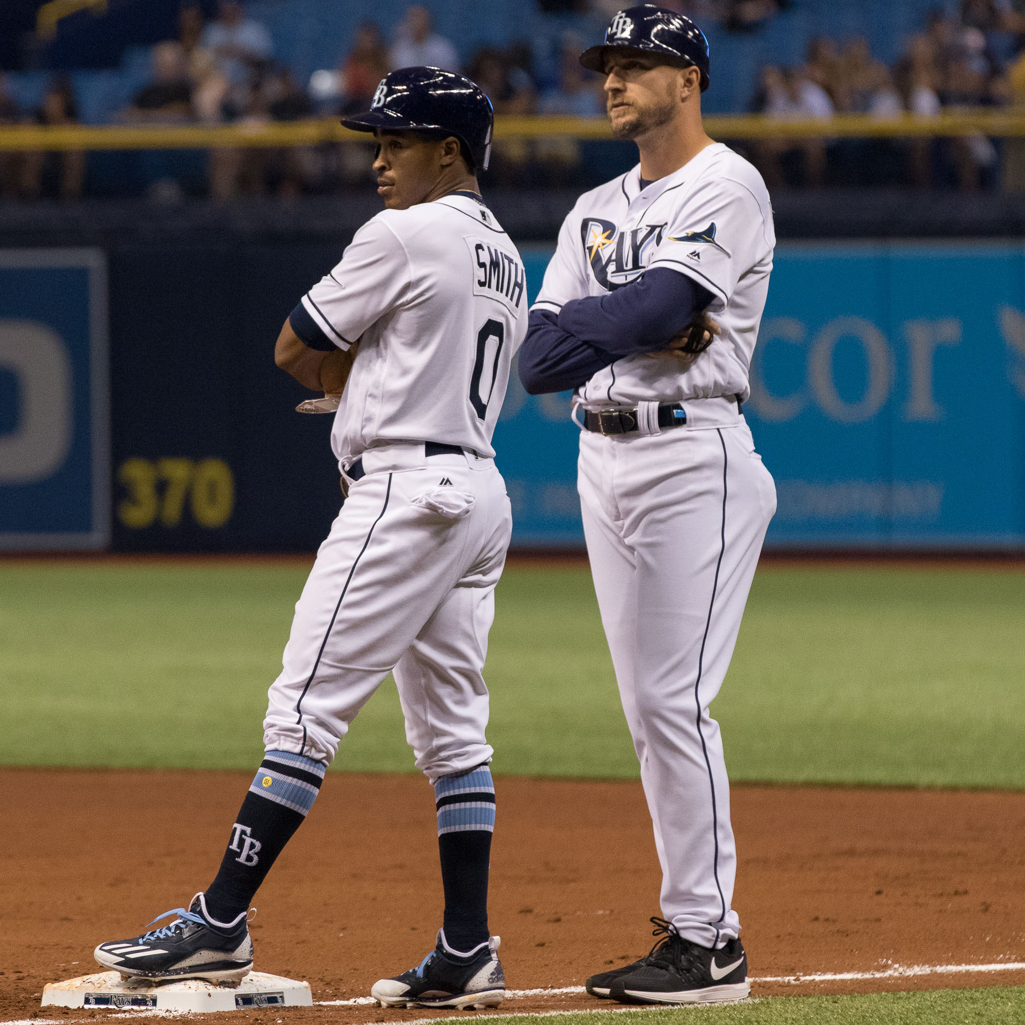 Mallex Smith's legs have made him a welcome addition to the Rays./STEVEN MUNCIE