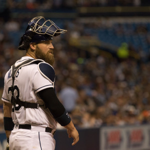 Derek Norris had two hits for the Rays./STEVEN MUNCIE