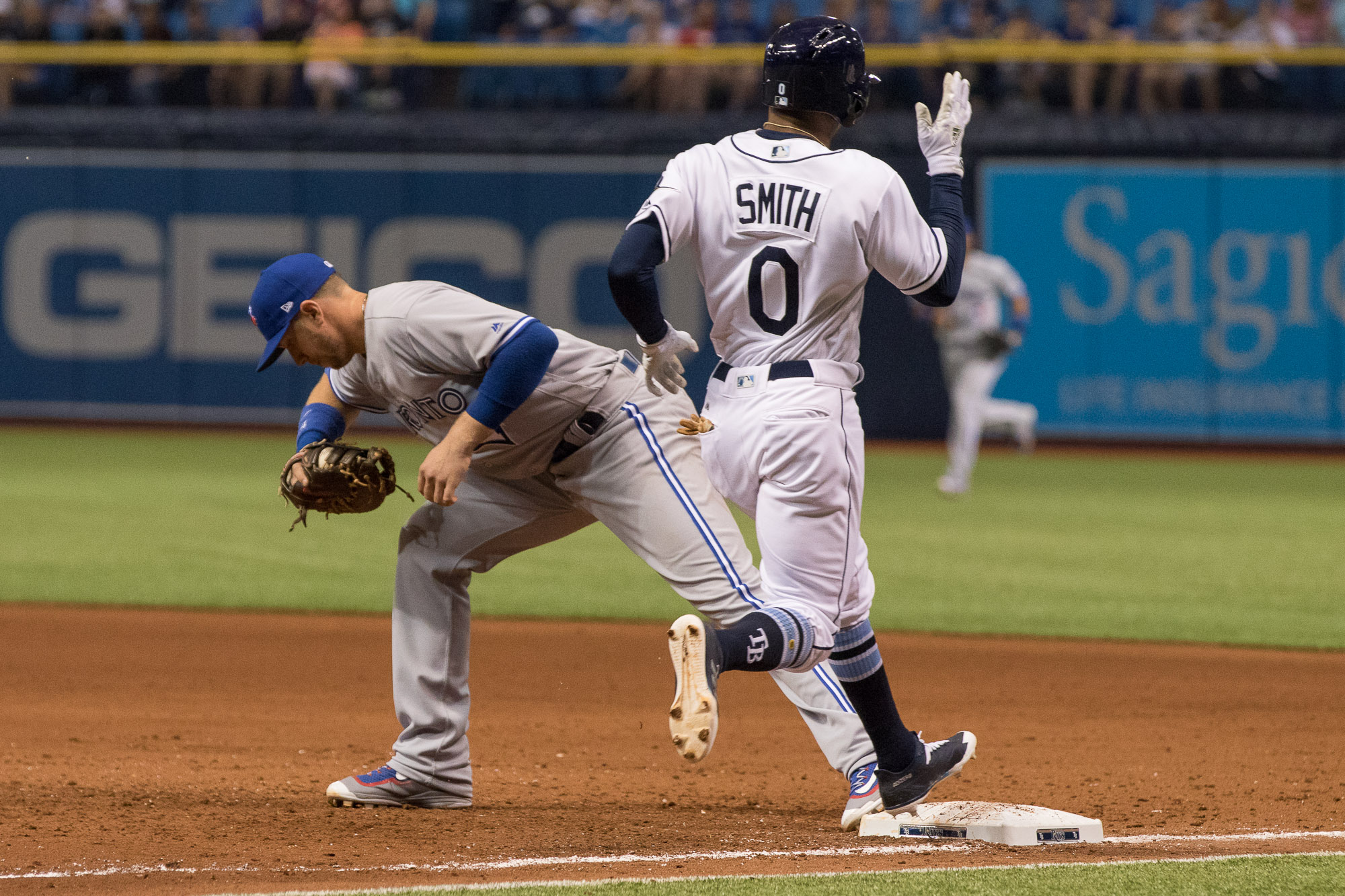 Smith is barely beaten to first on a groundout./Steven Muncie