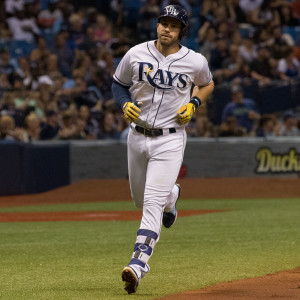 Evan Longoria had two hits and drove in two runs./STEVEN MUNCIE