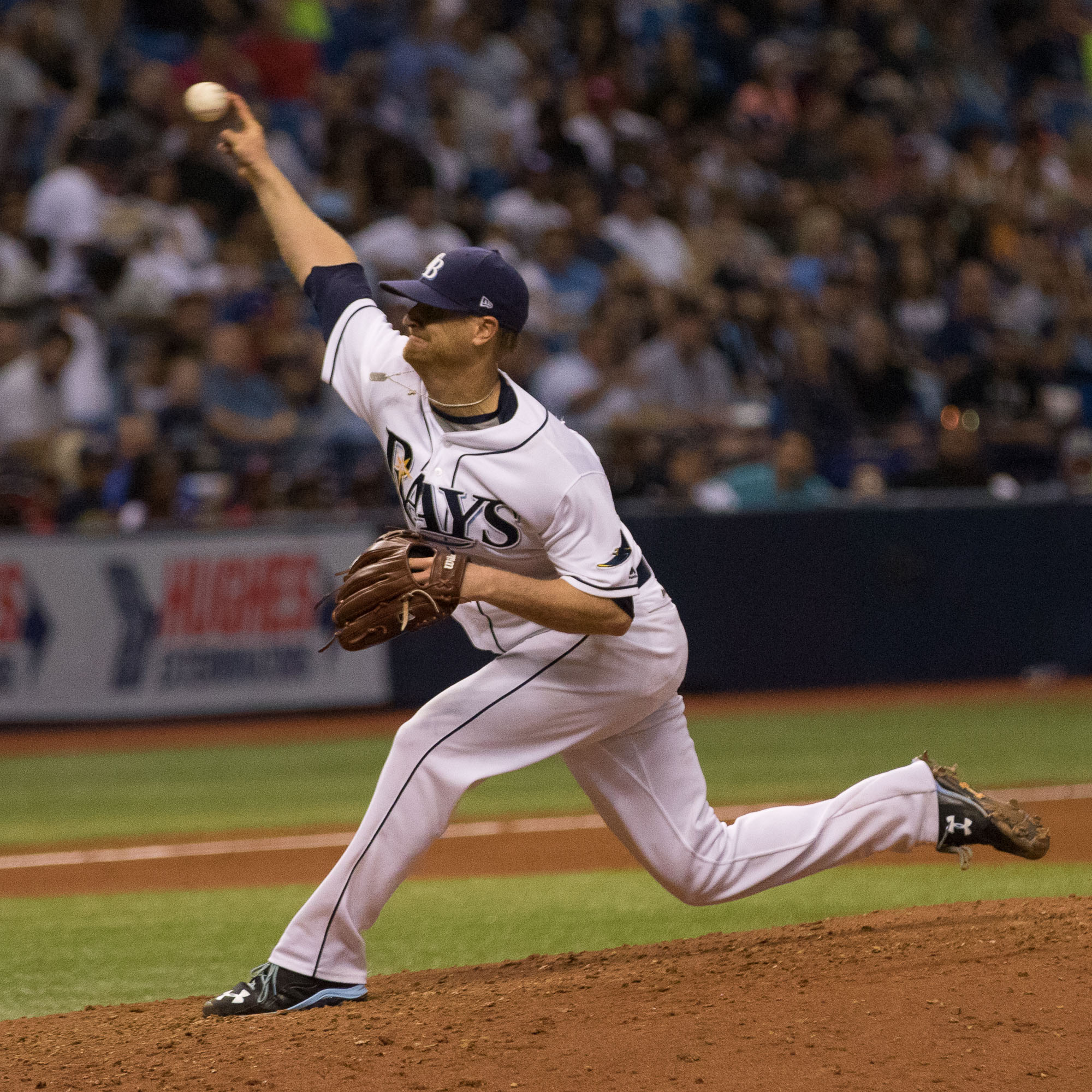 Alex Cobb allowed only one hit over his first six innings../STEVEN MUNCIE