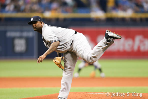 Sabathia controlled the Rays' bats all night./JEFFREY S. KING