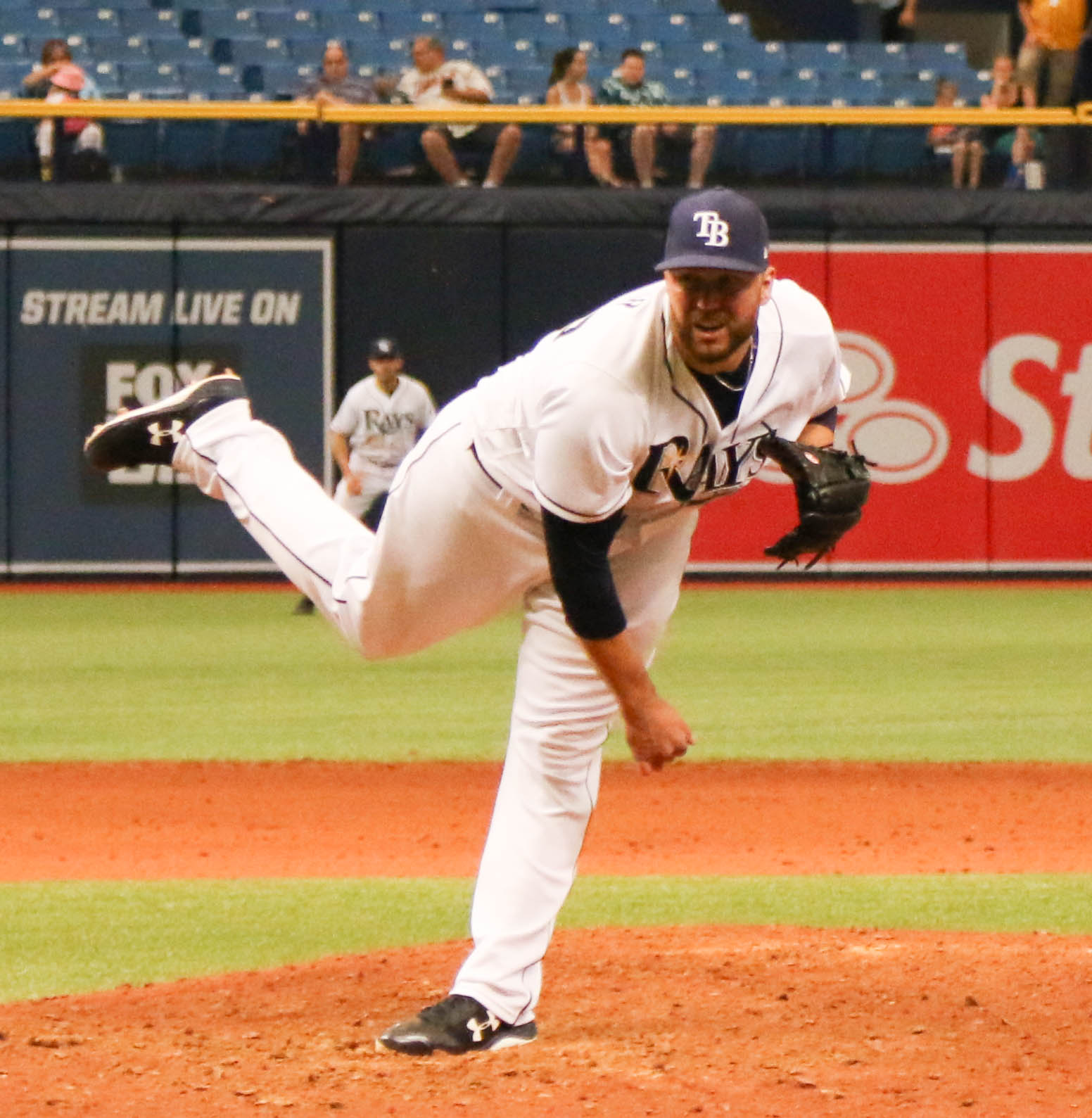 Tommy Hunter pitched a scoreless inning for Rays./STEVE MUNCIE