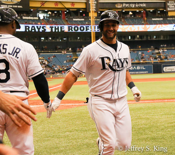 Kiermaier's homer gave the Rays a 3-2 lead./JEFFREY S. KING