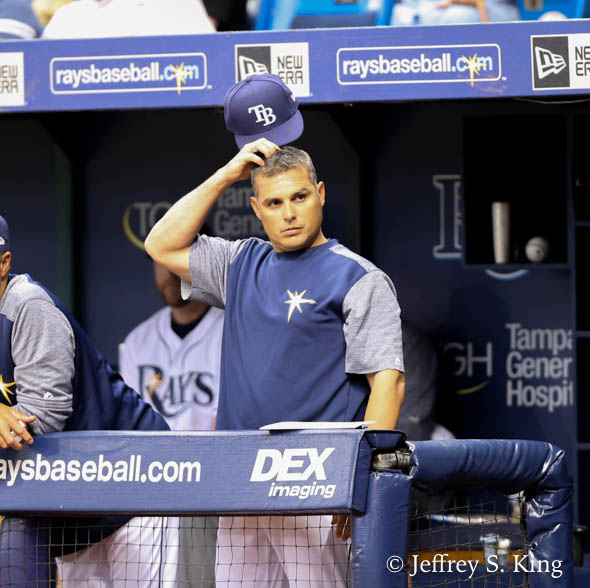 Rays' manager Kevin Cash tries to figure out his Rays' latest win./jEFFREY S. KING