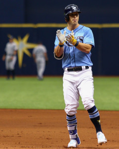 Dickerson reacts after his lead off single in the 1st./ANDREW J. KRAMER