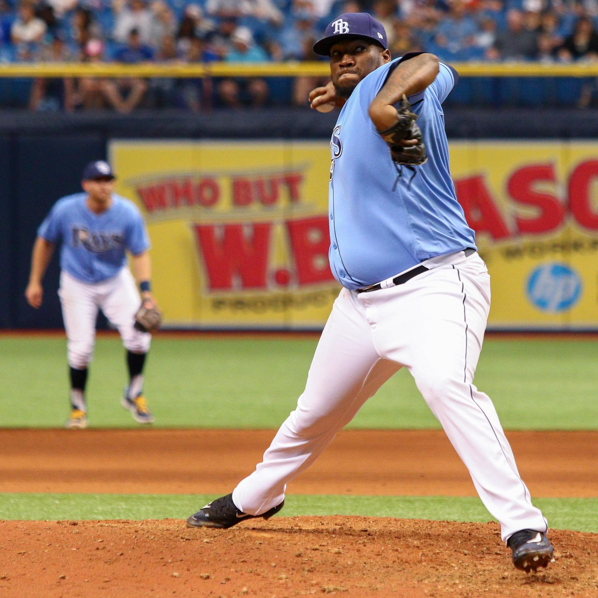 Jumbo Diaz has been sharp out of the bullpen./ANDREW J. KRAMER