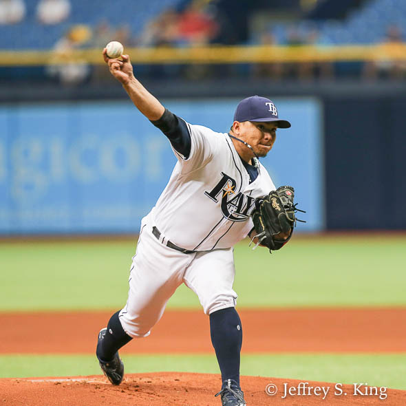 Ramirez gave the Rays five strong innings./JEFFREY S. KING