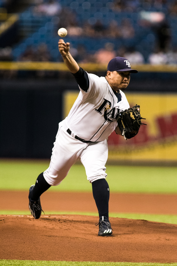 Erasmo went five and a third innings in his first start./CARMEN MANDATO