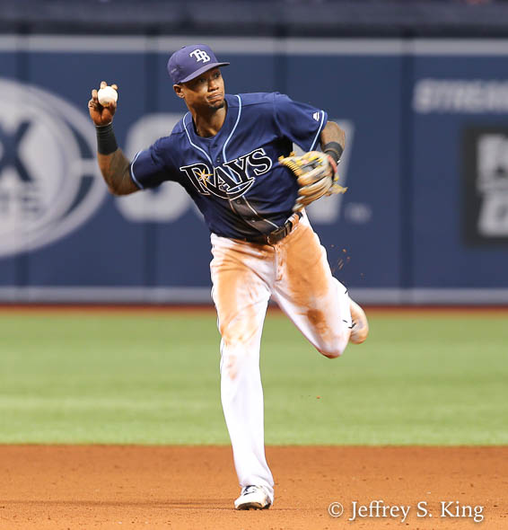 Beckham turned a nice double play in the sixth inning./JEFFREY S. KING