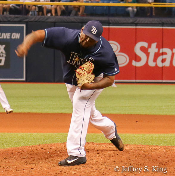 Diaz was designated for assignment after the game./JEFFREY S. KING