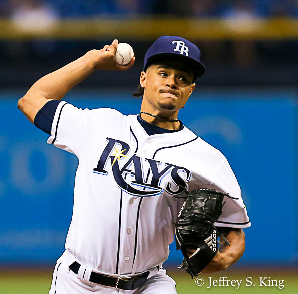 Archer was injured after throwing eight pitches./JEFFREY S. KING