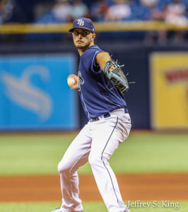 Odorizzi pitched well, giving up only two runs in six innings./JEFFREY S. KING