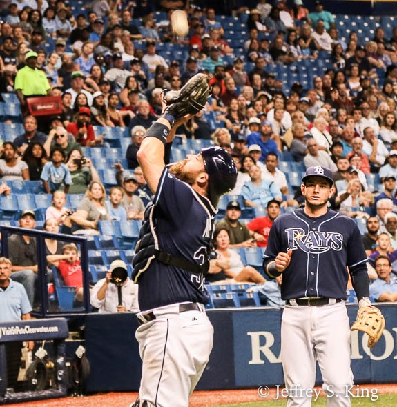 Derek Norris finished the Rays' scoring with a two-run homer./JEFFREY S. KING