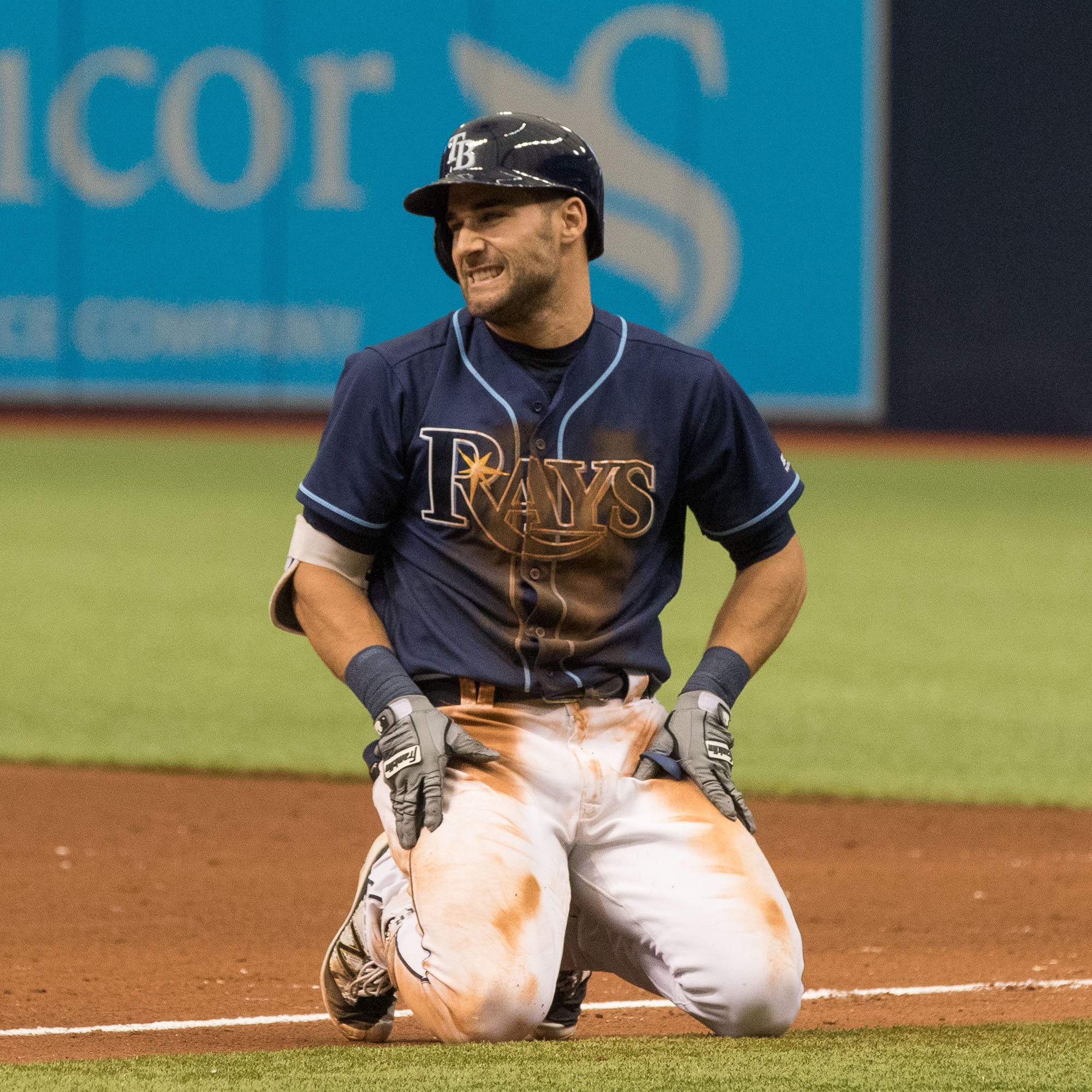 Kiermaier rarely has a series as sloppy as this one./STEVEN MUNCIE