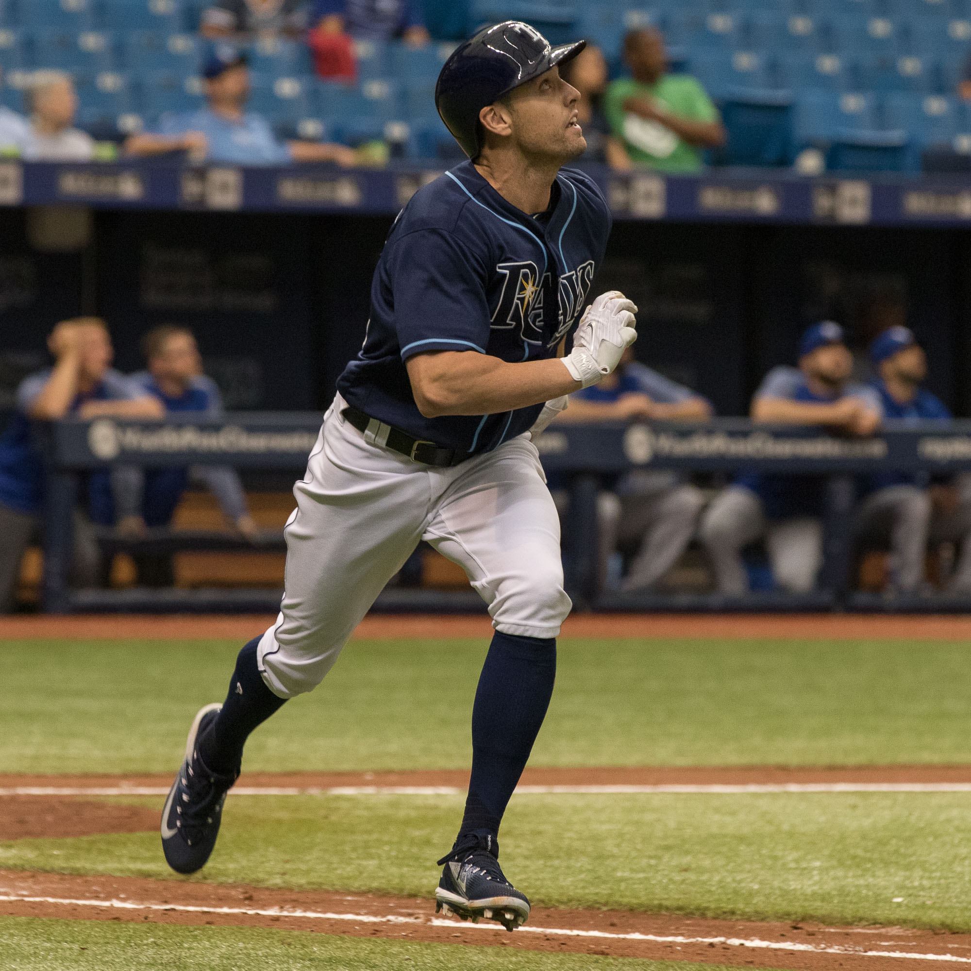 Dickerson looks to see if his swing was good enough./STEVEN MUNCIE