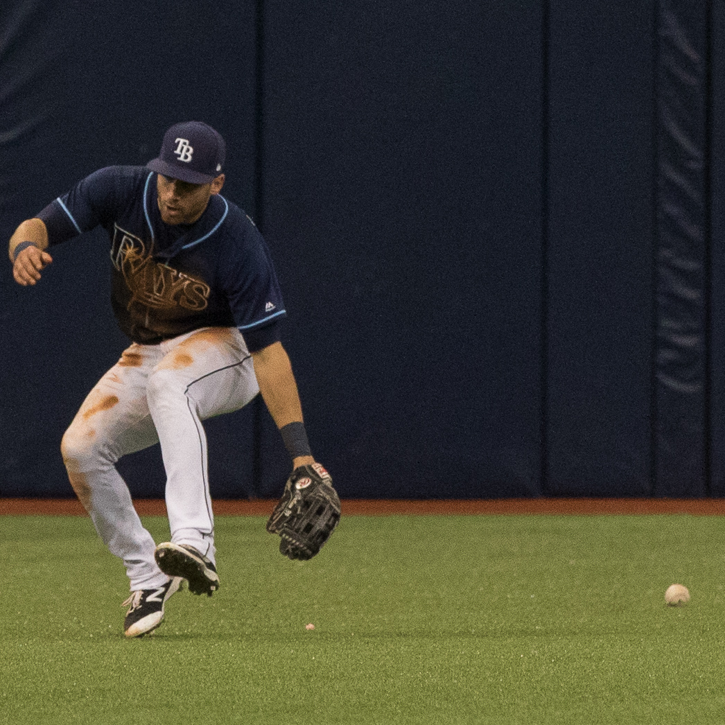 Once again, Kiermaier was leaky in center field./STEVEN MUNCIE