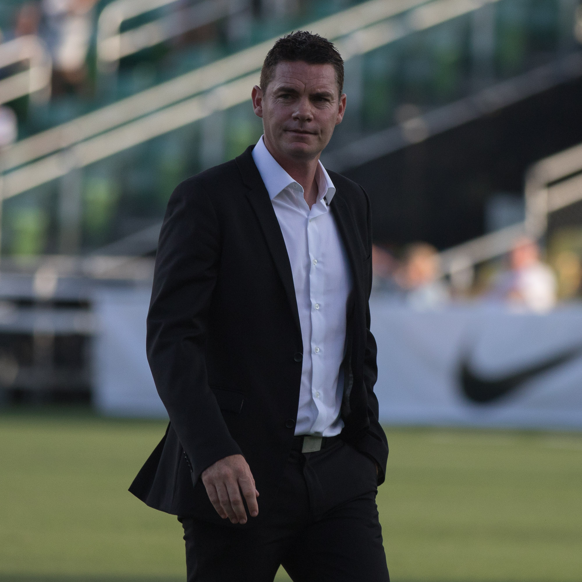 Rowdies Head Coach Stuart Campbell led his team to victory./STEVEN MUNCIE