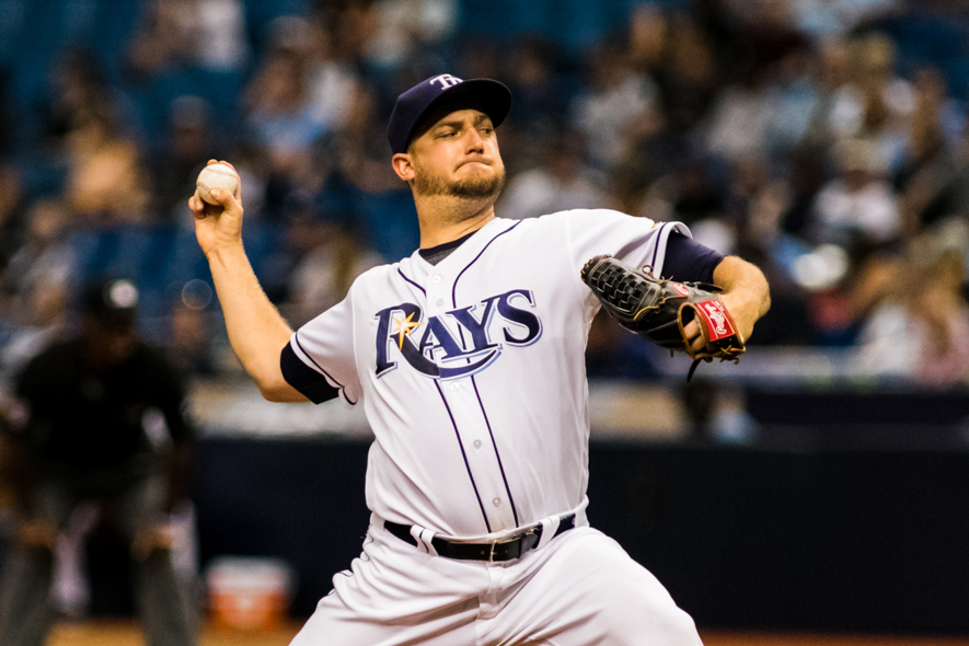 Andriese hadn't pitched for the Rays' since June./CARMEN MANDATO