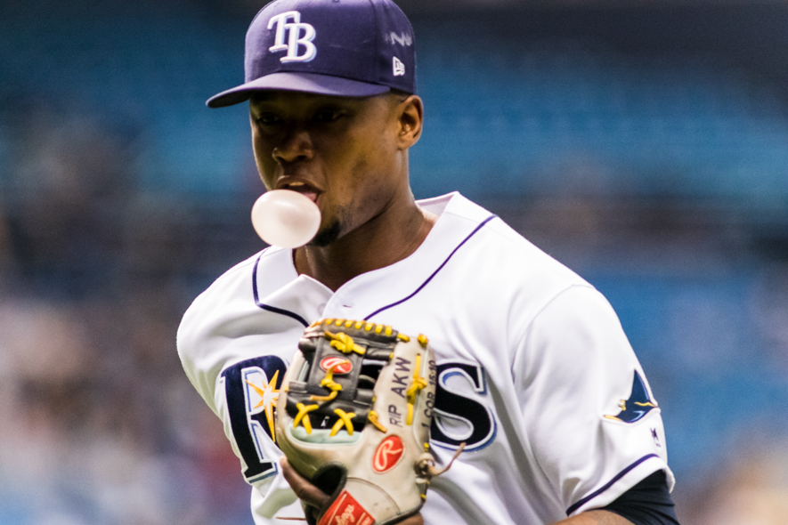 Beckman continued to play well of the Rays./CARMEN MANDATO