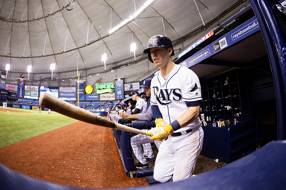 Dickerson had a four-hit day to lead Rays./CARMEN MANDATO