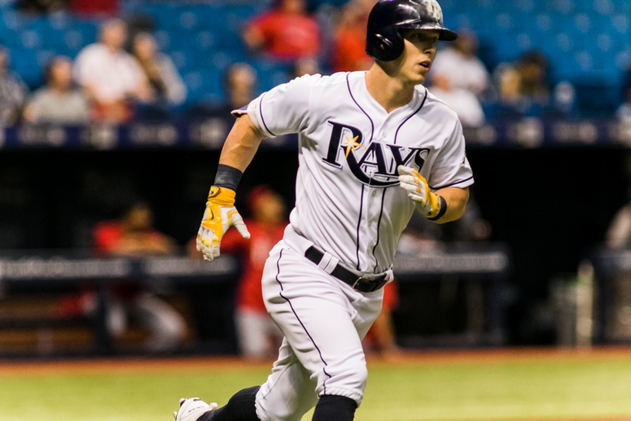Dickerson got the Rays off to a good start with a leadoff homer. /CARMEN MANDATO