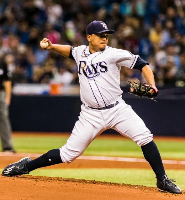 Ramirez settled down and threw well./CARMEN MANDATO