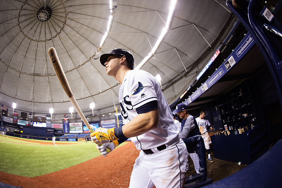 Dickerson had two hits for the Rays./CARMEN MANDATO