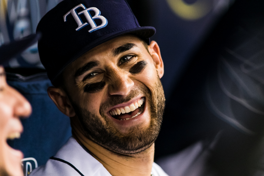 Kiermaier had three hits for the Rays./CARMEN MANDATO