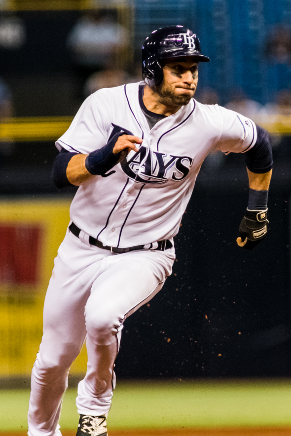 Kiermaier scored twice for the Rays./CARMEN MANDATO
