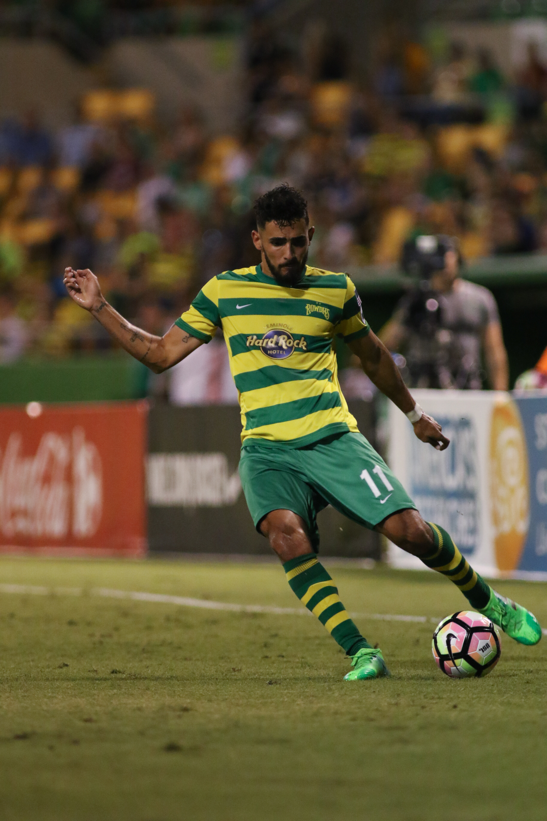 Fernandes scored the Rowdies' first goal of the season.