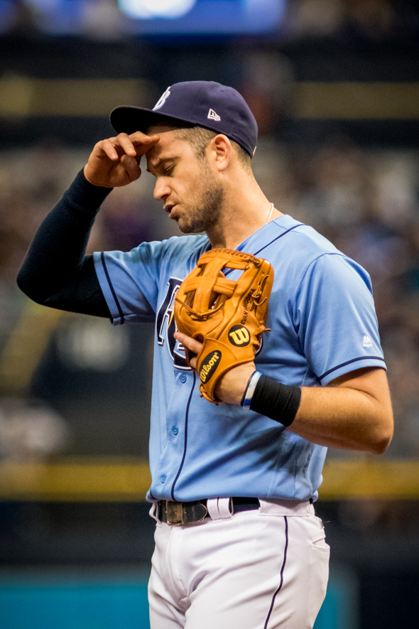 Longoria put the Rays ahead with a three-run homer./STEVE MUNCIE