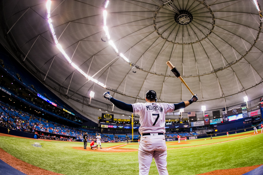 Morrison, Rays return to Tropicana Field./CARMEN MANDATO