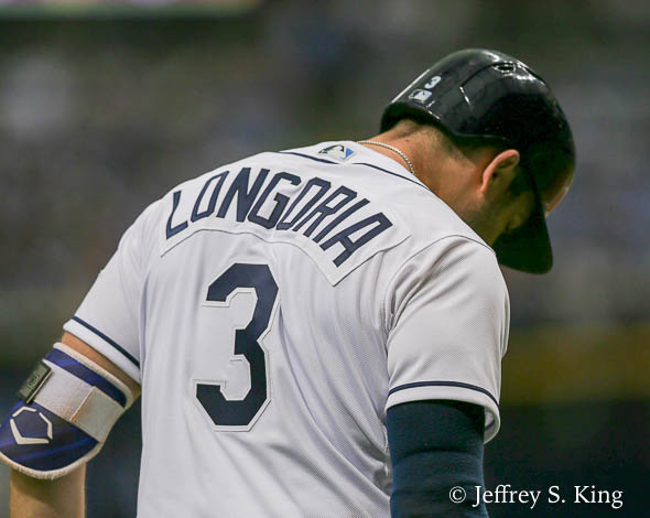 Longoria continued his hot streak with another homer./JEFFREY S. KING