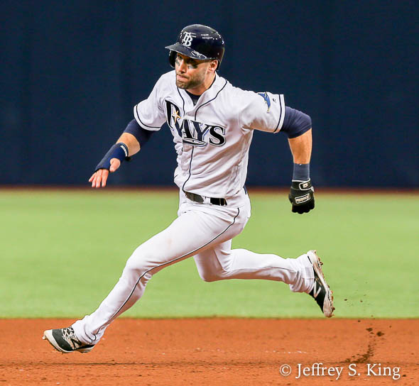 Kiermaier had two hits and scored a run./JEFFREY S. KING