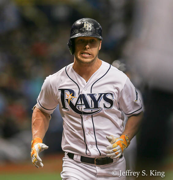 Dickerson's hot bat has led the way for the Tampa Bay Rays./JEFFREY S. KING