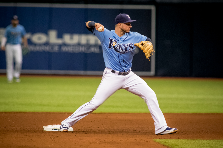 Robertson had two hits for the Rays./STEVEN MUNCIE