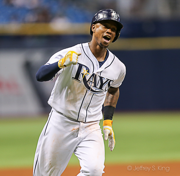 Beckham had two hits to help lead the Rays./JEFFREY S. KING