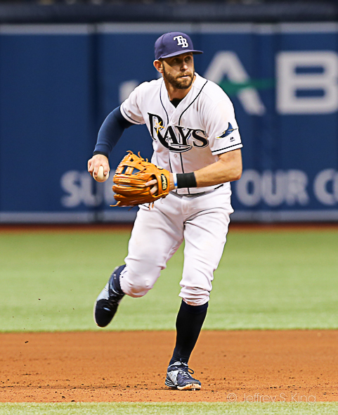 Longoria drove in four runs for the Rays./JEFFREY S. KING