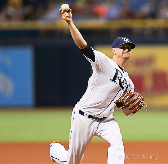 Cobb went seven strong innings for the Rays./KEFFREY S. KING