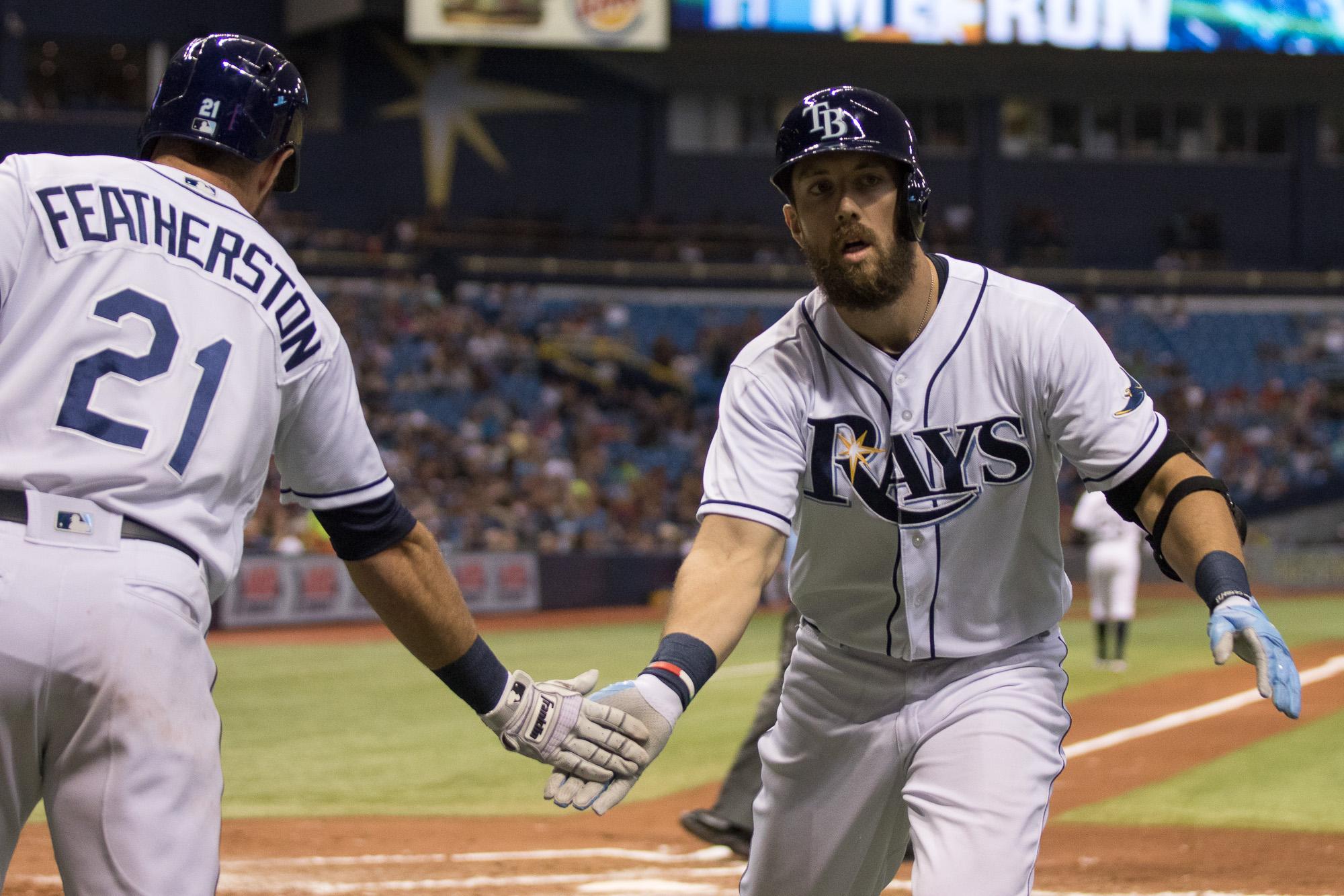 Souza Jr. celebrates his 14th homer./STEVEN MUNCIE