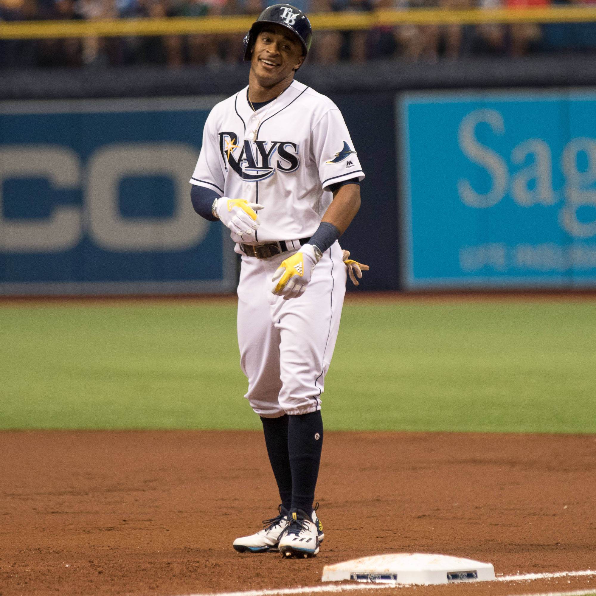Mallex Smith had two hits and extended his hitting streak./STEVEN MUNCIE