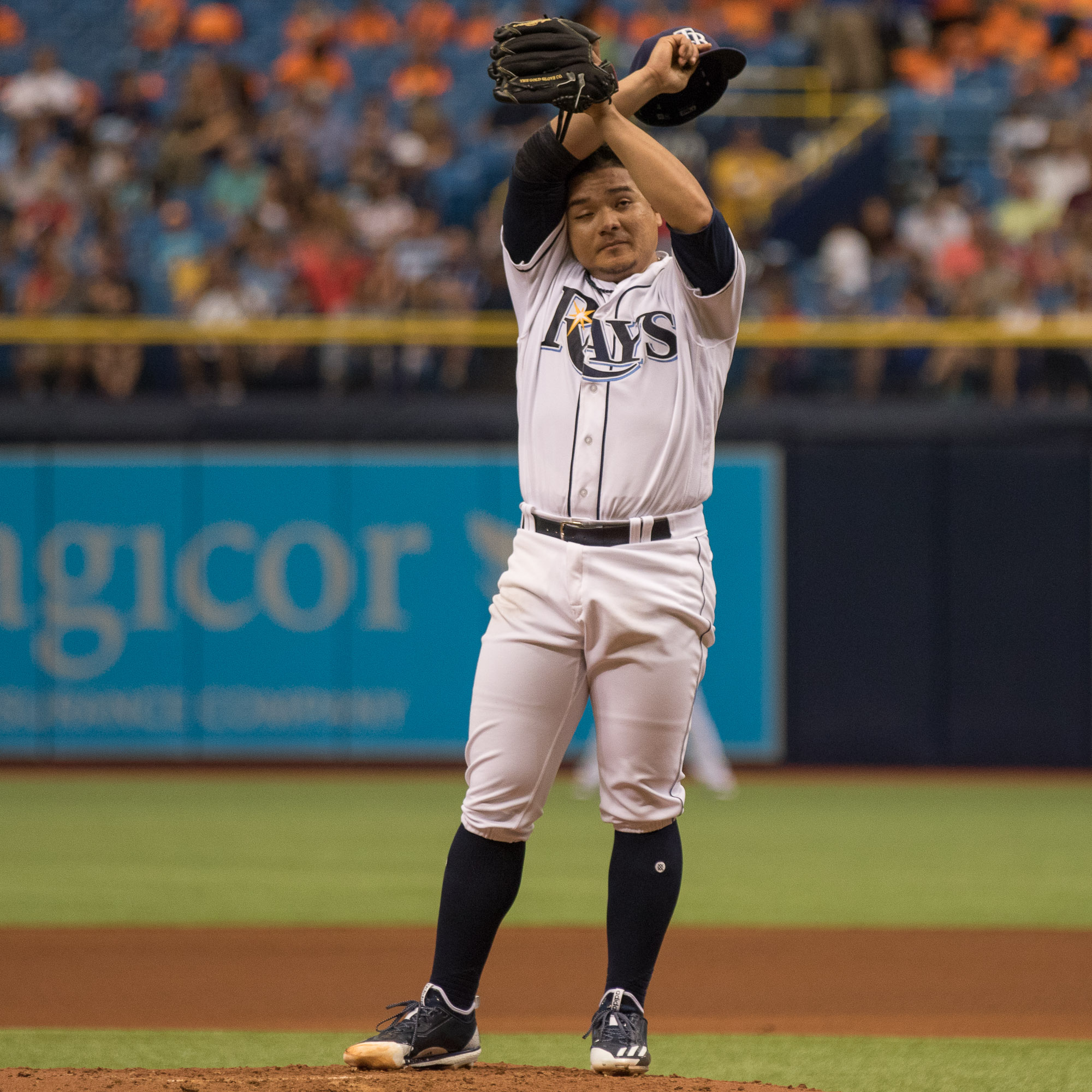 Erasmo Ramirez had his best start in a while for the Rays../STEVEN MUNCIE
