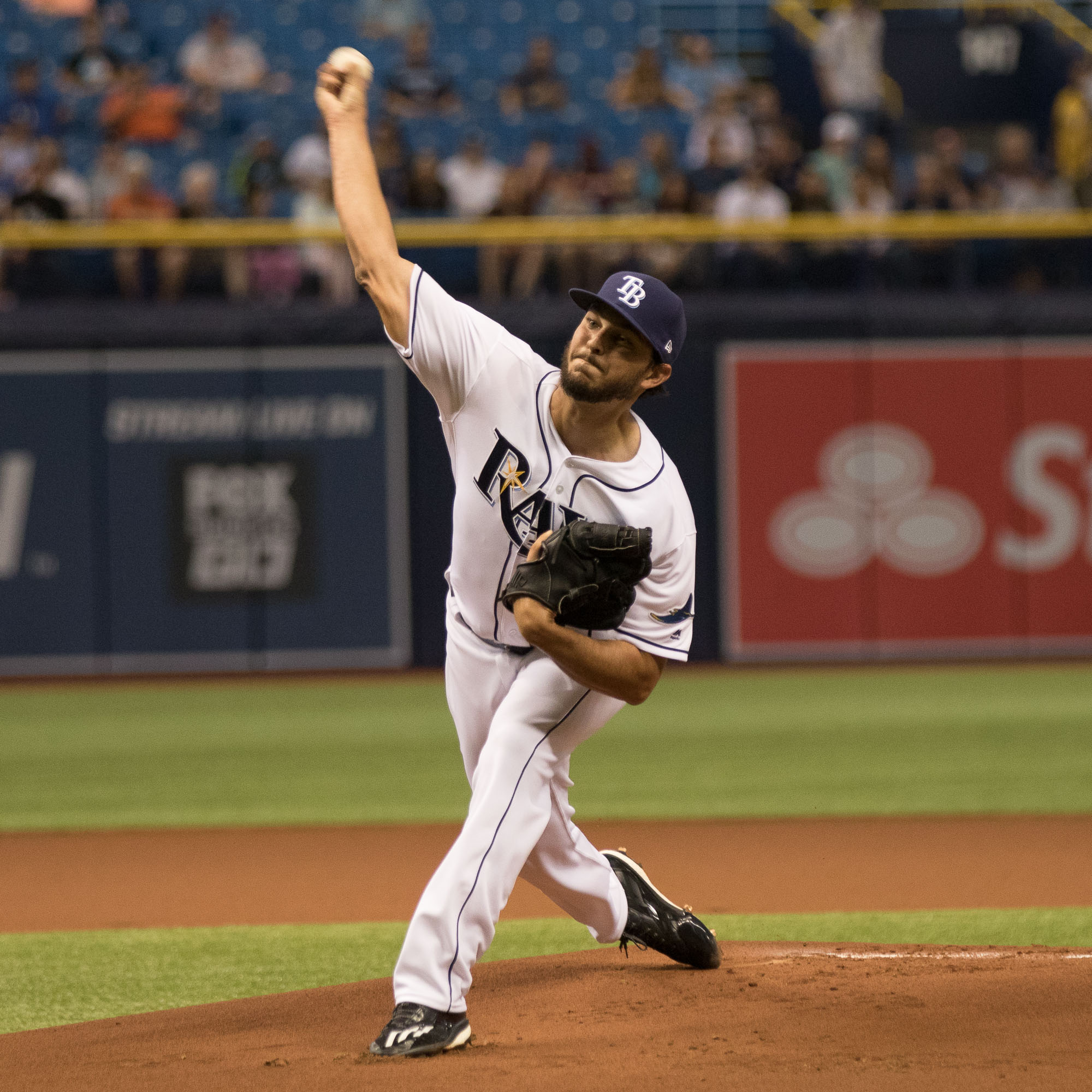 Pitcher Jacob Faria was just what the Rays needed./STEVEN MUNCIE