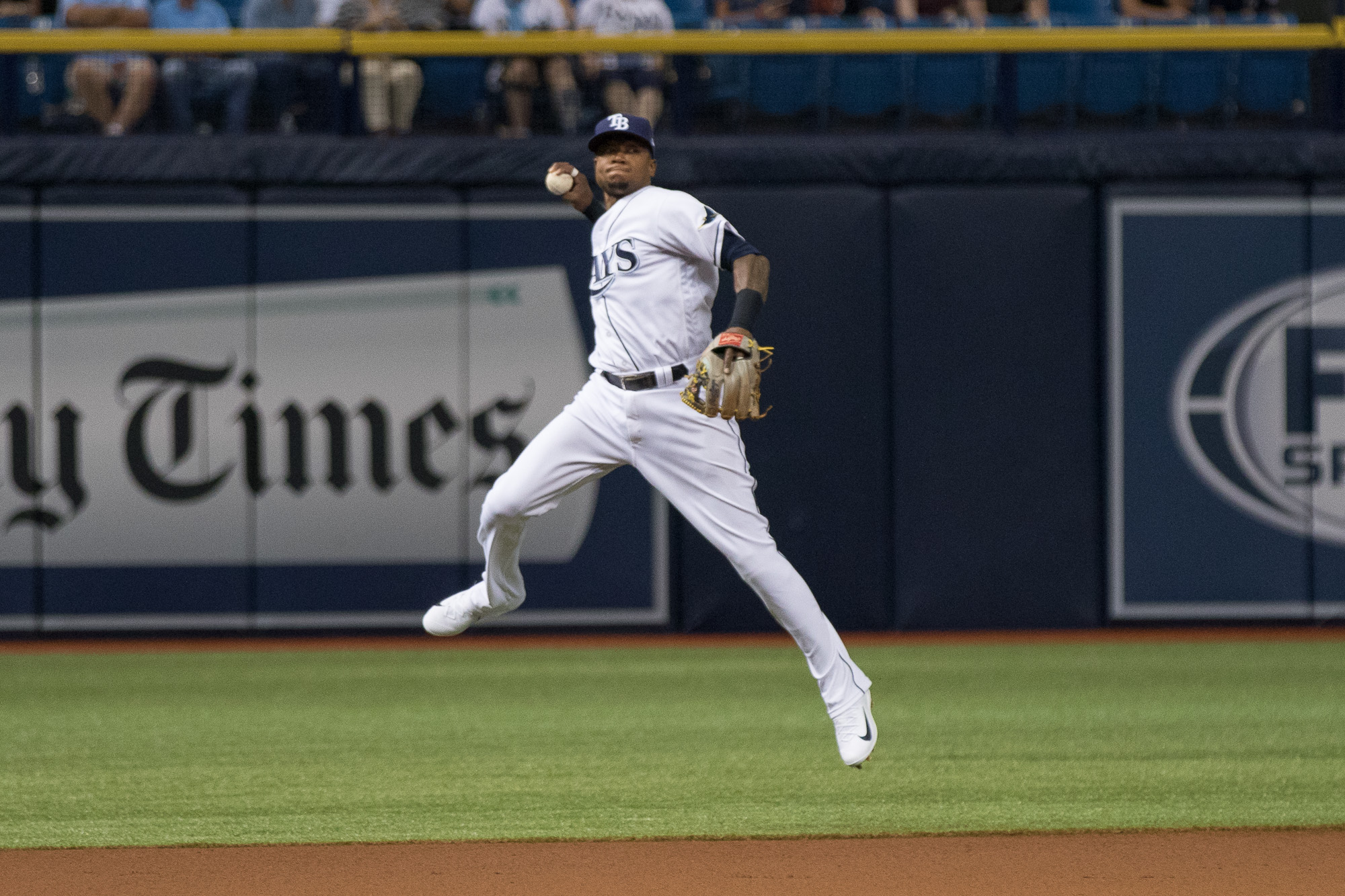 Tim Beckham had the big hit to lead the Rays../STEVEN MUNCIE
