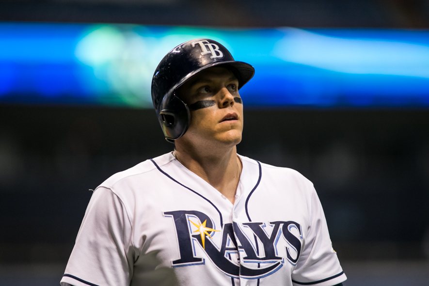Logan Morrison played both ends of the doubleheader./CARMEN MANDATO