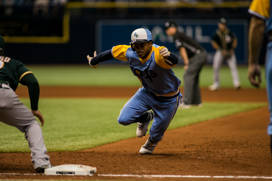 Mallex Smith played well again for the Rays./CARMEN MANDATO